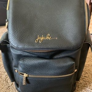 Ju-Ju-Be Forever Backpack diaper bag - leather